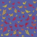 与蝴蝶的抽象无缝的样式 免版税库存照片