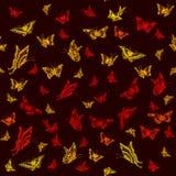 与蝴蝶的抽象无缝的样式 免版税库存图片