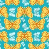 与蝴蝶的美好的无缝的样式 库存例证