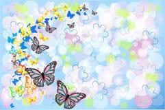 与蝴蝶的背景 库存图片
