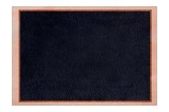 与黑表面的形状黑板木框架 免版税库存图片