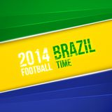 与巴西旗子颜色的抽象几何背景。传染媒介例证 库存照片