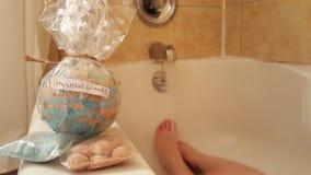 与浴选项的神秘的森林bathbomb 库存图片