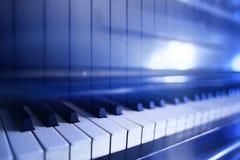与琴键的抽象 库存图片