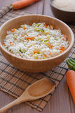 与素食者的印度大米 免版税库存照片