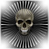 与头骨和圆容量纹理的背景 免版税库存图片