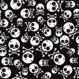 与头骨和骨头的传染媒介无缝的样式 免版税图库摄影