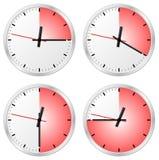 与15, 20, 30和45分钟的定时器 免版税库存照片