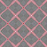 与- black&white&red的正方形的抽象背景 免版税库存图片