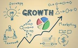 与3d圆形统计图表的企业概念 免版税库存照片