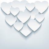 与3d心脏的时髦的创造性的抽象背景 免版税库存照片