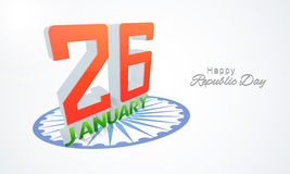 与3D文本的愉快的印地安共和国天庆祝 免版税库存图片