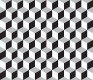 与3d立方体的抽象几何无缝的样式 免版税库存照片