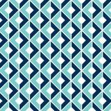 与3D错觉的几何无缝的样式 库存例证