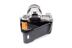 与35 mm影片的照相机 免版税库存图片
