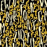 与abc或字母表的无缝的样式 皇族释放例证
