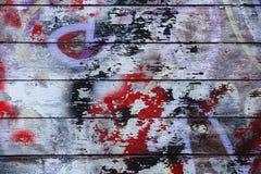 与abstact老油漆的年迈的木纹理弄脏 免版税库存图片