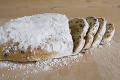 与almondpaste的面包 图库摄影