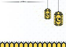 与arabain样式灯笼的伊斯兰教的背景 免版税库存图片