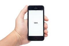 与ASOS app的iPhone 5s 免版税库存图片
