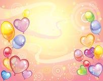 与balloons_rose的背景 库存照片