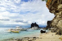 在海岛,菲律宾的Bangka 库存照片
