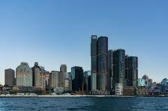与Barangaroo大厦的悉尼CBD都市风景 图库摄影