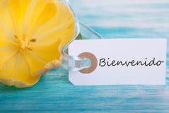 与Bienvenido的标记 图库摄影