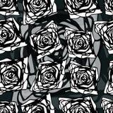 与black&white几何元素的原始的无缝的样式 免版税库存图片