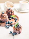 与blueberrie的红萝卜松饼 图库摄影