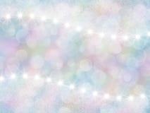 与boke和星的抽象淡色彩虹背景 免版税图库摄影
