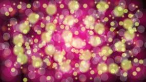 与bokeh作用的摘要紫色被弄脏的背景 不可思议明亮欢乐多彩多姿美好发光发光与亮点 皇族释放例证