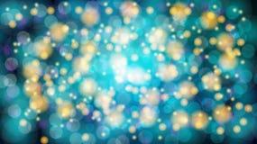 与bokeh作用的摘要蓝色被弄脏的背景 不可思议明亮欢乐多彩多姿美好发光发光与亮点 皇族释放例证
