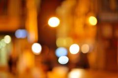 与bokeh光的抽象城市迷离背景 库存照片