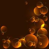 与bokeh圈子的金黄模板 库存图片