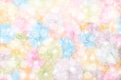 与bokeh星的五颜六色的发光的幻想 免版税库存图片
