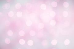 与bokeh的精美美好的淡紫色桃红色背景 免版税库存照片