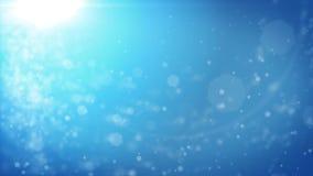 与bokeh defocused光的抽象蓝色圣诞节背景 皇族释放例证