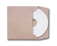 与CD的盘的工艺信封 免版税库存图片