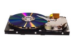 与CD/DVD的硬盘驱动器而不是磁片 图库摄影