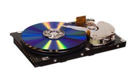 与CD/DVD的硬盘驱动器而不是磁片 免版税库存图片