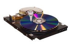 与CD/DVD的硬盘驱动器而不是磁片 库存照片