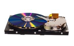 与CD/DVD的硬盘驱动器而不是磁片 免版税库存照片