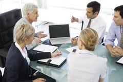 与CEO的业务会议 免版税库存图片