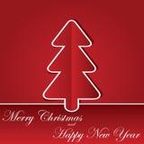 与chrastmas结构树的圣诞节背景 免版税库存图片