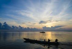 与cloudscape的光彩的日出 免版税库存图片