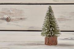 与copyspace的微小的圣诞树 库存图片