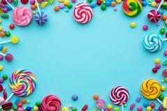 与copyspace的糖果背景 图库摄影