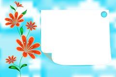 与copyspace的花卉卡片 免版税库存图片