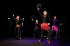 与cordobans的佛拉明柯舞曲舞蹈 库存照片